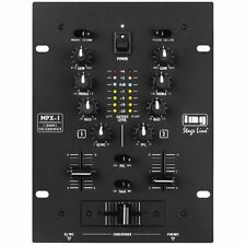IMG STAGE LINE MPX-1/BK 2-KANAL PROFI STEREO RACK DJ PA MIXER PARTY MISCHPULT