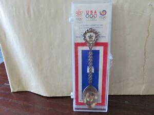 1988 Seoul Korea Olympic Games Collectors Commemorative Spoon in Box USA NEW