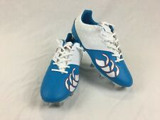 Canterbury - Phoenix Club 8 Stud - White & Blue Rugby Boots - Mens - Size 9 Uk