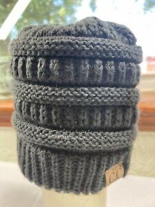 CC Kids Beanie Dark Gray Charcoal Basic Winter Hat