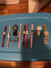 vintage lot of 10 untested watch Aldo,Liz Blano,Sharp,Denacci,Sarah Coventry