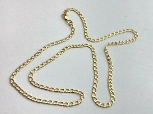 """9ct Yellow GOLD CURB LINK CHAIN 8.6 Grams 24"""" Necklace HALLMARKED Ship Worldwide"""