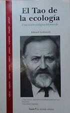 Libro El tao de la ecologia, de Edward Goldsmith