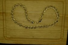 """16"""" TURKISH 14K YELLOW GOLD HOLLOW SNAIL HYBRID LINK CHAIN NECKLACE 10mm 10.8g"""