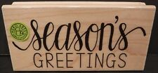 New Hero Arts Season's Greetings Wood Mounted Rubber Stamp #H6105