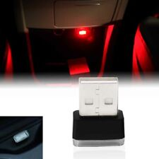 Universal Red USB Plug-In Miniature LED Car Interior Extra Ambient Lighting Kit
