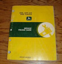 Original 1990 John Deere 4055 4255 4455 Tractor Service Pricing Guide SPG1042