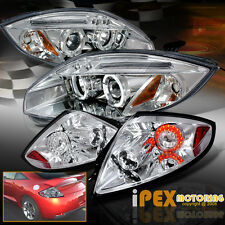 Brightest Halo 2006-2011 Mitsubishi Eclipse Projector Headlight + LED Tail Light