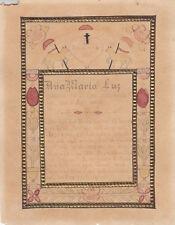 Votivblatt Denkspruch für Ana Maria Luz Originalzeichnung 1890
