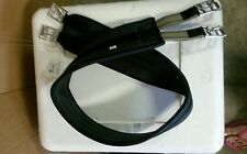 "Quality- Contured English neoprene Saddle Girth - 52""- Roller Buckles/black new"