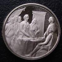 Franklin Mint STERLING SILVER Mini-Ingot: 1776 Declaration of Independence