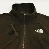 The North Face Womens Zip Up Fleece Jacket Size Medium Brown Long Sleeve
