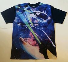 New Adult Killer Whales Orcas With Laser Eyes Jersey Shirt funny galaxy Sz Xxl