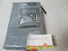 "New Kenneth Cole Reaction Home SHADOW FLORAL Full Bedskirt  - 15"" Drop - Grey"