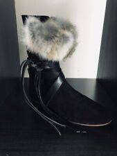 ISABEL MARANT Nia Suede Leather & Fur Boots* 37EU / 4UK Orig£420 / Worn once!