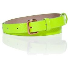 Marc By Marc Jacobs Highlight Yellow Patent Leather Skinny Belt Sz S/XS $128