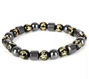 Magnetic Hematite Bracelet Black Pain Relief Therapy Arthritis Weight Loss 346
