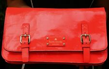 Kate Spade New York Flicker Ellie Patent Leather Clutch in Neon Coral $298 SCOUT
