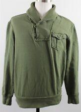 NEW Polo Ralph Lauren Shawl Neck Pullover Sweater MENS MEDIUM Green Cotton