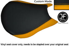YELLOW & BLACK VINYL CUSTOM FITS DUCATI STREETFIGHTER FRONT RIDER SEAT COVER