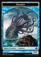 KRAKEN TOKEN NM mtg Elspeth vs Kiora Blue - Creature Token