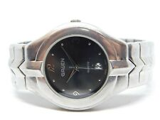 "Gruen PIM103F Silver Tone Quartz Analog Men's Watch Sz. 7"""