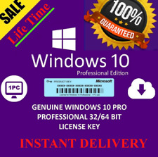 Windows10 PRO PROFESSIONAL ✅ GENUINE LICENSE 🔑 KEY 🔑 INSTANT DELIVERY
