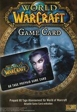 WoW Gamecard 60 Tage Spielzeit - WOW EU TimeCard Code PC - EU