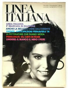 Linea Italiana n. 43 Gennaio 1974 Rivista moda vintage Giappone Oriente Premaman