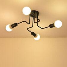 4 Way Retro Ceiling Light Modern Vintage Industrial Metal E27 Pendant Lamp Decor
