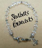 Medical Replacement Bracelet/Medical Alert ID Bracelet/Swarovski/Stainless Steel
