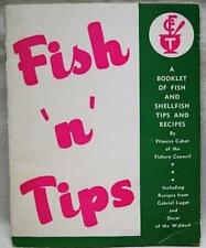 Fish N Tips A Booklet Of Fish & Shellfish Tips & Recipes Vintage Cooking Seafood