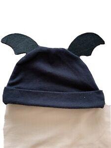 Halloween Baby/ Infant Hat Black Bat