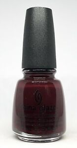 China Glaze Nail Polish Velvet Bow 1017 Deep Crimson Burgundy Red Lacquer