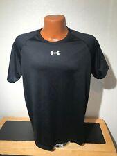 Mens Under Armour Heat Gear S/S Athletic T-Shirt Size Medium (M) Black - Poly