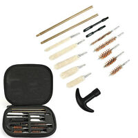16pcs Universal Gun Cleaning Kit for .22 38 40 44 45 357 cal 9mm Hand Gun Pistol