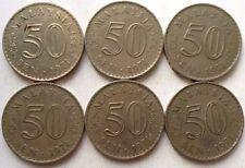 Malaysia 50 sen 1971 coin 6 pcs