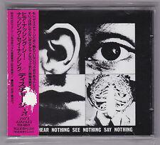 Discharge -Hear Nothing See Nothing Say Nothing CD 1990 JAPAN PRESS BONUS TRACKS