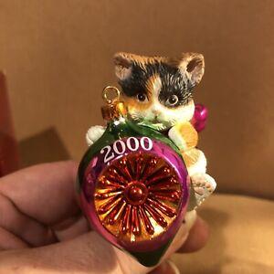 CARLTON ORNAMENT 2000 Purr-fect Holidays Cat Kitten