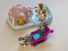 Vintage Kenner 1994 My Littlest Pet Shop Twinkling Sledding Party *lights work*