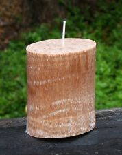 80hr CITRONELLA, LEATHER & OUDH WOODS Mozzie Repellent Triple Scent OVAL CANDLE