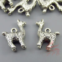 Llama Alpaca Charms 18mm Wholesale Antiqued Silver Plated Pendants - 4/15/30PCs