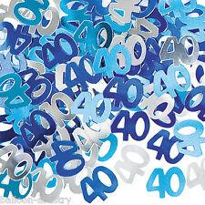 2 Packs 40th Birthday Confetti Foil Sprinkles BLUE