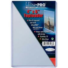 100 Ultra Pro 4x6 Postcard Photo Hard Rigid Ultra Clear Toploader 4 x 6 Top Load