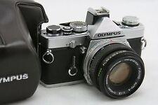 Olympus OM-1N MD, vintage 35mm SLR camera, lens 1:1,8/50mm F Zuiko Auto-S