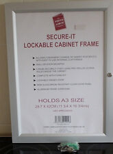 A3 ALUMINIUM LOCKABLE DISPLAY CASE,SECURE-IT,SHOP,PUB DISPLAY,RESTURANT SIGNS
