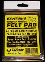ADHESIVE FELT Bow & Rest Silencing Material Archery Great for Quiver Rest Sight