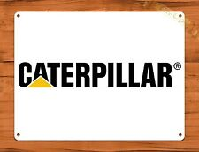"""Caterpillar White"" Farm Heavy Equipment TIN SIGN  Decor"