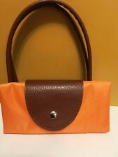 LE PLIAGE LONGCHAMP STYLE NYLON TOTE HANDBAG Orange Color Medium Foldable Purse