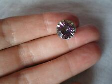 Mystic Quartz gemstone, round in shape, brilliant cut, 11x11 mm, 4.78 carats